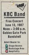 KBC Band Backstage Pass