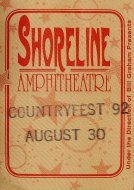 Countryfest 1992 Backstage Pass