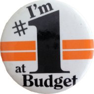 I'm # 1 At Budget Pin