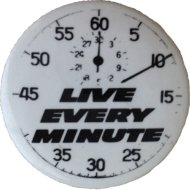 Live Every Minute Pin