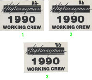 The Highwayman Backstage Pass