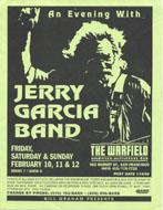 Jerry Garcia Band Handbill