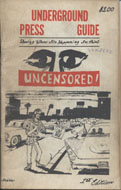 Underground Press Guide Uncensored Magazine