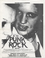 The Punk Rock Movie Handbill
