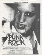 The Punk Rock Movie Handbill