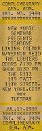 Fishbone Vintage Ticket