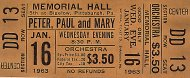 Peter, Paul & Mary Vintage Ticket
