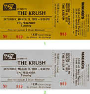 The Krush Vintage Ticket