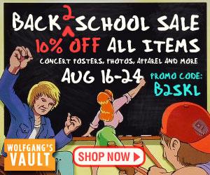 Wolfgang's Vault - Back 2 School Sale