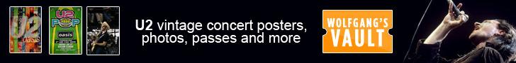 U2 live concert merch