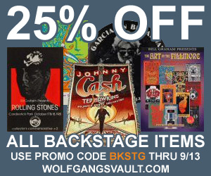 Wolfgang's Vault - 25% of Backstage