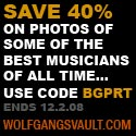 From Black Friday to Cyber Monday 2008 Sale: 40% off Selected Rock Photography at Wolfgangs Vault