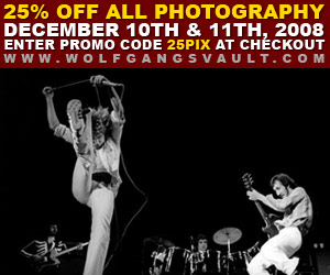 25% off Rock Photography at Wolfgangs Vault Sale ends on 12-11-08
