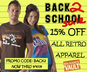 Wolfgang's Vault - Back to School Sale