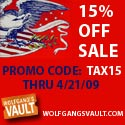 Wolfgang's Vault - 15% Off All Items