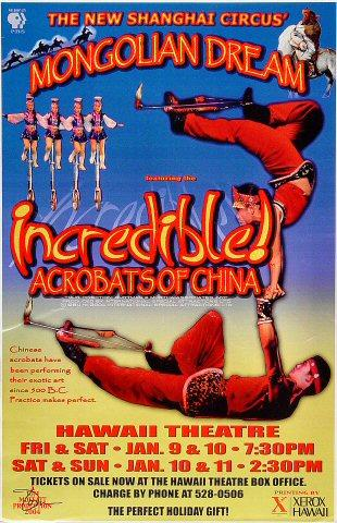 Incredible Acrobats of China Poster