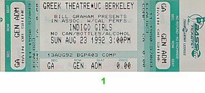 Indigo Girls1990s Ticket