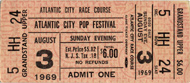 Iron Butterfly Vintage Ticket
