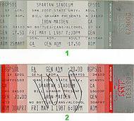Iron Maiden 1980s Ticket