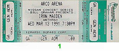 Iron Maiden1990s Ticket