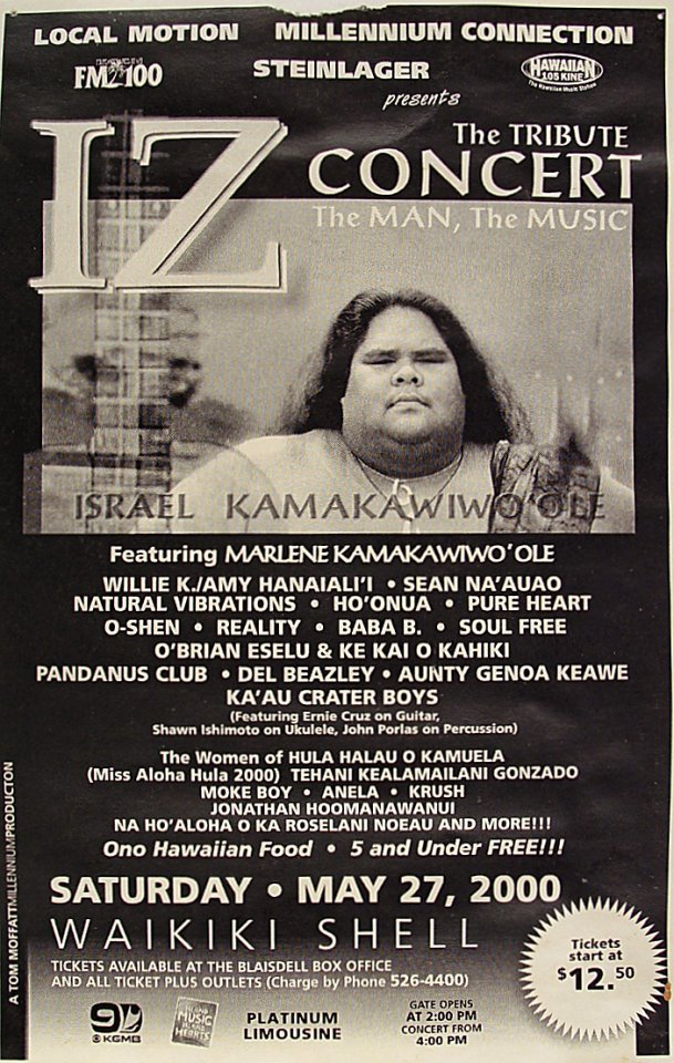 Israel Kamakawiwo'ole Handbill