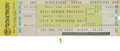 It's a Beautiful Day1970s Ticket