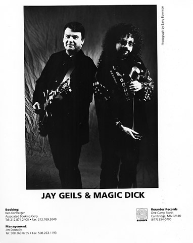 J. Geils and Magic Dick Promo Print