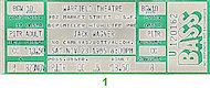 Jack Wagner Vintage Ticket