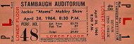 "Jackie ""Moms"" Mabley Show Vintage Ticket"