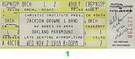 Jackson Browne 1980s Ticket