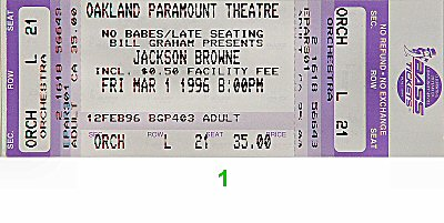 Jackson Browne1990s Ticket