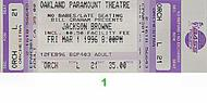 Jackson Browne 1990s Ticket