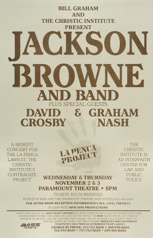 Jackson BrownePoster