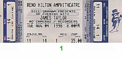James Taylor1990s Ticket