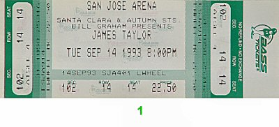 James Taylor 1990s Ticket