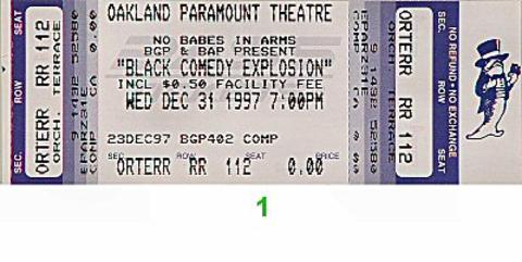 Jamie Foxx Vintage Ticket