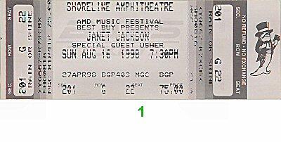 Janet Jackson1990s Ticket