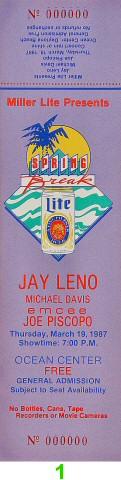 Jay Leno1980s Ticket