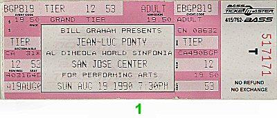 Jean-Luc Ponty1990s Ticket