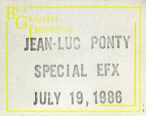 Jean-Luc Ponty Backstage Pass
