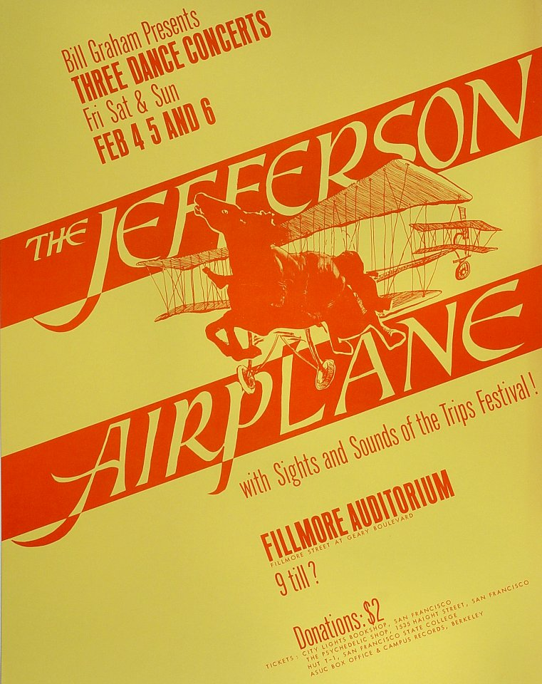 Jefferson AirplanePostcard
