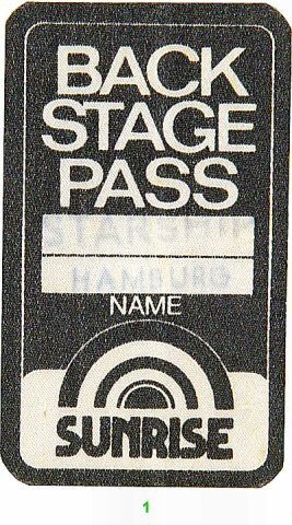Jefferson Starship Backstage Pass