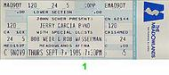 Bob Weir 1980s Ticket