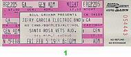 Jerry Garcia Band 1980s Ticket