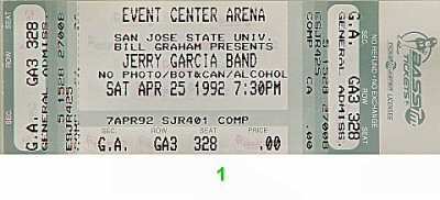 Jerry Garcia Band1990s Ticket