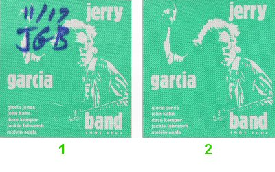 Jerry Garcia Band Backstage Pass