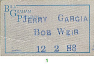 Bob Weir Backstage Pass