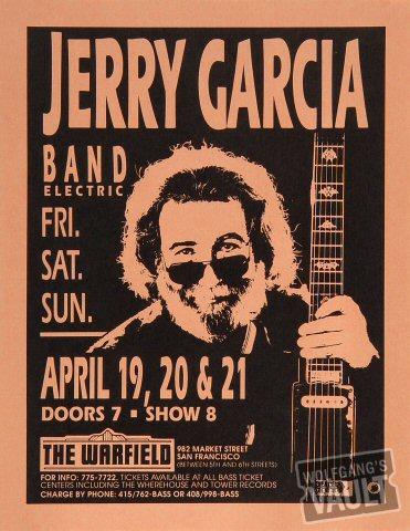 Jerry Garcia BandHandbill