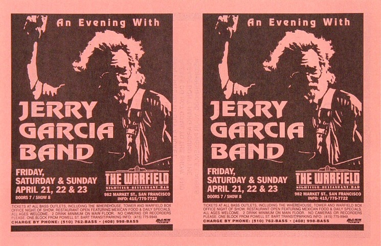 Jerry Garcia BandHandbill