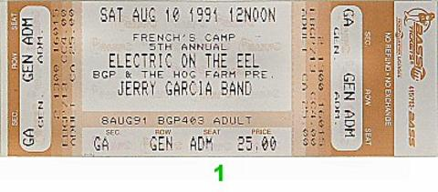 Jerry Garcia Vintage Ticket